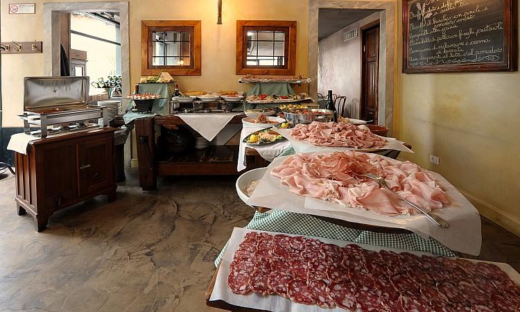 antipasti per brunch in Cantina della Vetra